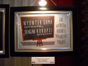 salah satu karya yang ditampilkan waktu Festival Anti Korupsi, UGM, 2014